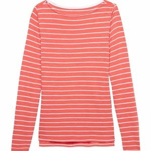 NWT Cotton-Modal Boat-Neck Long-Sleeve - Size S